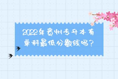 2022年贵州专升本有单科最低分数线吗?